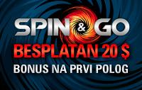 Besplatan 20 $ Spin & Go bonus
