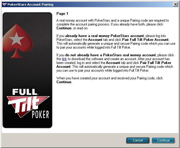 Pair Full Tilt Poker Account