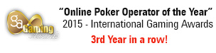Best poker operator of the year 2015 3rd year in a row