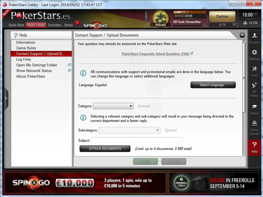 Atención al cliente de BetStars